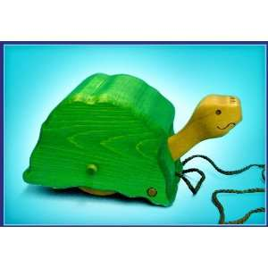 LARK Toby Turtle Wooden Pull Toy Toys & Games