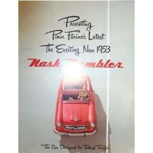 1953 NASH Sales Brochure Literature Book Piece Automotive
