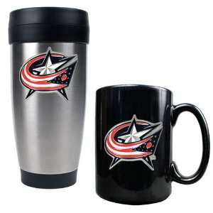 Columbus Blue Jackets NHL Stainless Steel Travel Tumbler & Black
