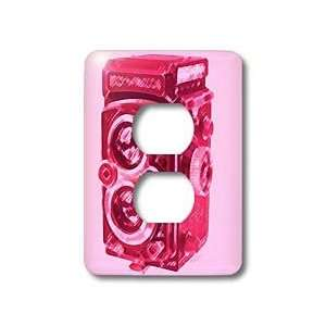 Twin Lens reflex TLR pink camera   Light Switch Covers   2 plug outlet