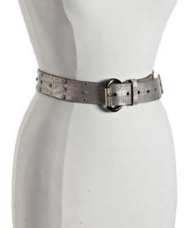 Calvin Klein graphite studded and crystal leather belt   up to