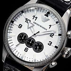 MENS BRAND NEW EMPORIO ARMANI PILOT CHRONOGRAPH WATCH AR5836