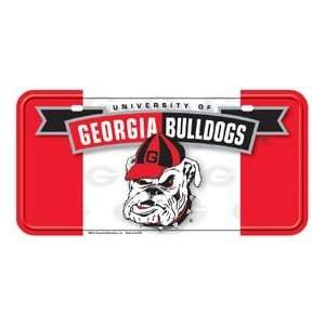 Metal Novelty Car License Plate Georgia Bulldogs