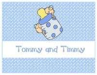 Custom Personalized Note Cards TWIN BABIES Stationery
