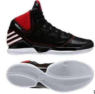 adizero Derrick ROSE 2.5 Shoes 2012 Black Red White Trainers 2.0