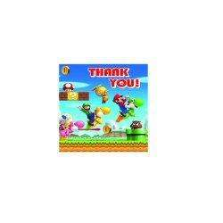 Super Mario Bros Wii Party Thank Yous x 6 £3.49