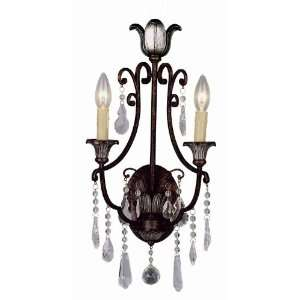 Trans Globe 2 Light Wall Sconce in Antique Bronze Finish