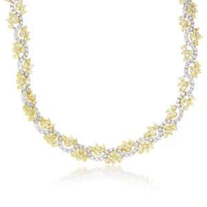 18K TWO TONE GOLD DIAMOND NECKLACE