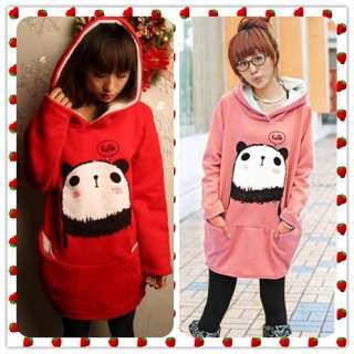 Sweatshirt Cute Panda Hoodie Loose Ladies Coat&Jacket C45#