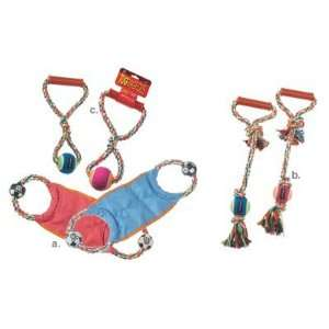 Petrageous Designs KaleidoRope w/Tug Dog Toy, Pink & Blue