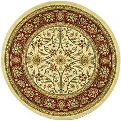 Collection Majestic Ivory/ Red Rug (53 Round)