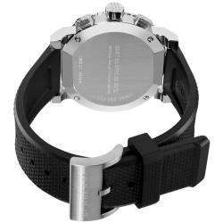 Burberry Mens Round Chronograph Black Rubber Strap Watch