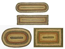 Braided Jute Oval or Rectangle Rugs, Runners & Stair Treads