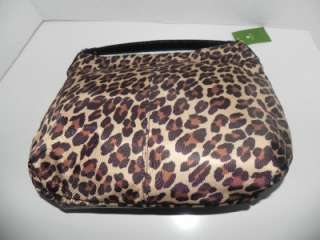 NWT KATE SPADE DENISE SMALL NYLON LEOPARD HOBO BAG $245