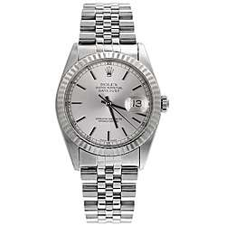 Pre owned Rolex Datejust Mens Steel Silver Dial Watch