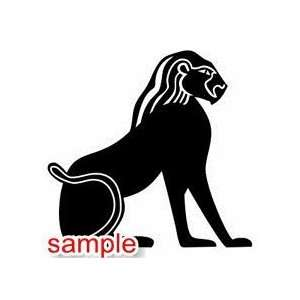 TRIBAL EGYPTIAN DEITY 02 10 WHITE VINYL DECAL STICKER