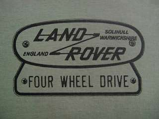LAND ROVER FOUR WHEEL DRIVE LOGO T SHIRT   Two colours S M L XL XXL