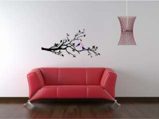 Tree Bird Branch Vinyl Wall Art Decal Mural Removable