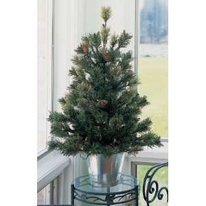 Pre Lit Potted Artificial Christmas Trees 2.5 #H89082