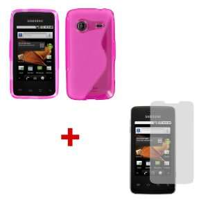 Pink For SAMSUNG PREVAIL + Screen Protector Cell Phones & Accessories