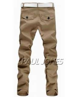 Stylish Mens Casual Skinny Slim Long Straight Trousers Pants 4Colors