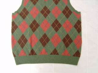 NWT Polo Ralph Lauren MENS Argyle Cashmere Sweater Dress Vest 2XLT 2XL
