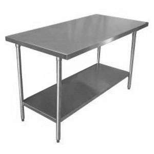 Tables and Sinks 16 Gauge Stainless Steel Commercial Work Table