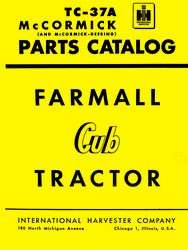 International Farmall Cub Tractor Parts Catalog Manual IH