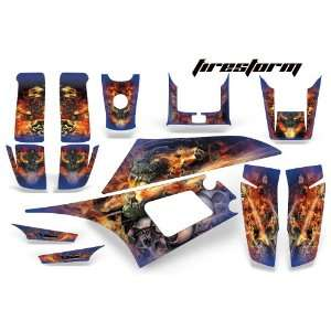 AMR Racing Yamaha Warrior 350 ATV Quad Graphic Kit  Firestorm Blue