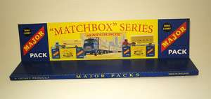 Matchbox Major Pack Vehicles Repro Display Stand