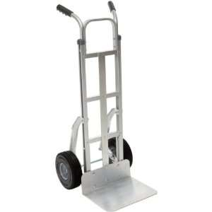 RWM Casters Aluminum Fixed Hand Truck with Dual Grip Vinyl Handle and
