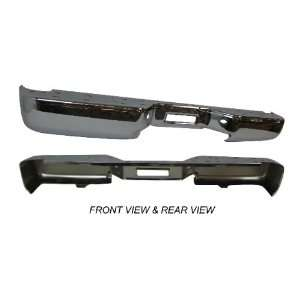 NISSAN TITAN REAR STEP BUMPER FACE BAR CHROME WITHOUT SENSOR HOLE NEW