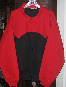 "Lined Jacket Black Red Coat XL Chest 28.5"" Outerwear New"