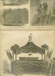 Harpers Weekly Page Civil War Lincoln Assassination1865