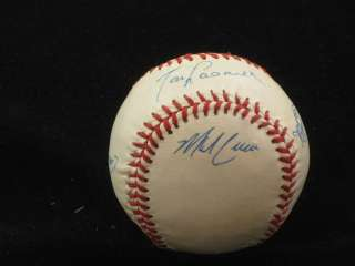 of los angeles dodgers team signed baseballs first up is an official