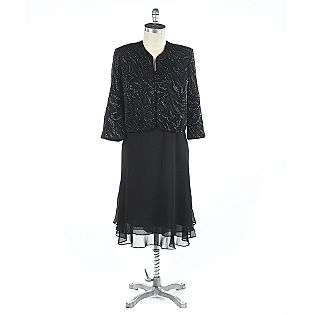 Womens Plus Glitter Top Bolero Jacket Dress  Kathy Roberts Clothing