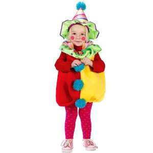 Clown Plush Costume Child Toddler Up to 2T Cute Halloween