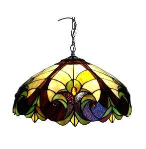 Stained Glass Tiffany Style Victorian Hanging Pendant Lamp Ceiling