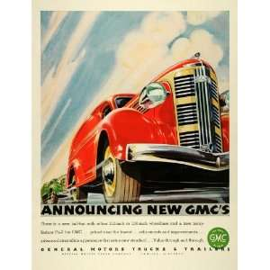 1936 Ad GMC General Motor Trucks Trailers Specifications