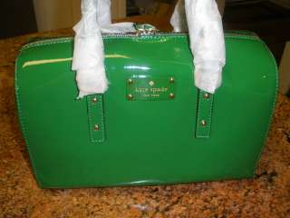 Kate Spade Flicker Melinda Patent Leather Satchel Spearmint Green New