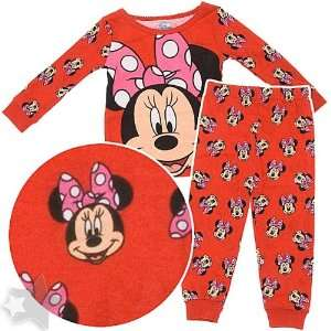 Minnie Mouse Red Cotton Pajamas for Infant Girls 18 Months Baby
