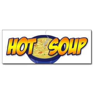 12 HOT SOUP DECAL sticker restaurant cafe food