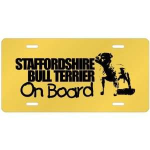 New  Staffordshire Bull Terrier On Board  License Plate