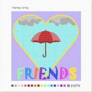 Sharing Caring Needlepoint Canvas Arts, Crafts & Sewing