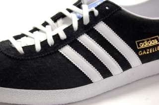 Adidas Mens Gazelle OG Black/White/Gold G13265