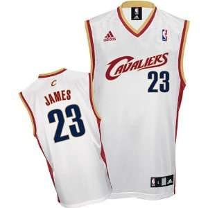 LeBron James Youth Jersey adidas White Replica #23