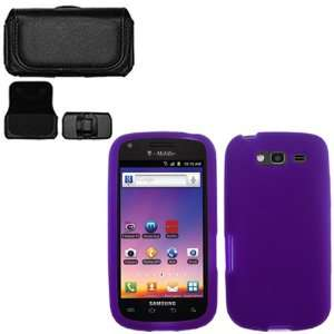 iFase Brand Samsung Galaxy S Blaze 4G T769 Combo Solid Purple Silicon