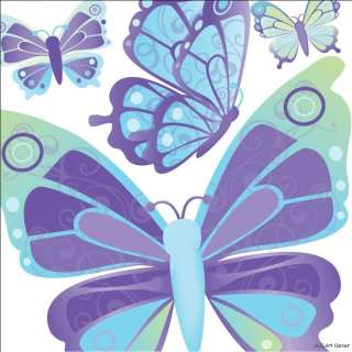 Blue Dreamy Butterflies Wall Sticker Decals boys/girls