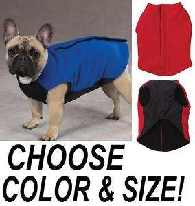 FLEECE VEST Dog Coat Jacket Sweater w Ripstop Chest New