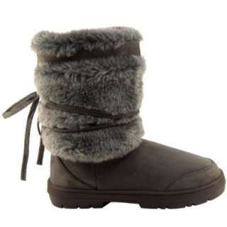 Womens Short Faux Fur Lined Thick Sole Winter Snow Boots Shoes